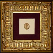 Framed Antique Grand Tour Intaglio #7