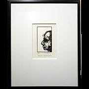 Benjamin Disraeli Lino Cut Print