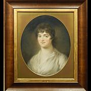 c.1830 Pastel Portrait Of A Woman