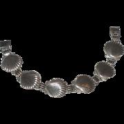 REDUCED Vintage Scallop Seashell Sterling Silver Bracelet & Earrings Set
