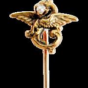 SALE Antique Gold Griffin Stickpin