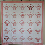 SOLD Sweet Vintage 30-40s Cherry Basket Quilt