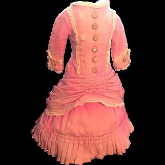 Rare original 1870s dress for large Wax or similar Doll