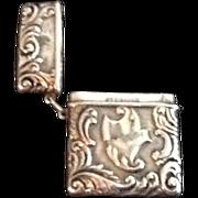Antique Sterling Silver Match Safe / Vesta
