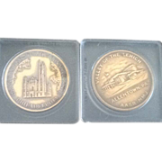 #Two  Pennsylvania Free Masons Temple  Commemorative Coins
