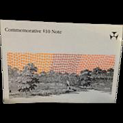 Australian $10 Commemorative Bank Note