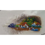 SOLD Original Costa Rica Feather Painting - Red Tag Sale Item