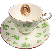 Rare Aynsley Coronation Shamrock Cup and Saucer