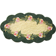 SOLD Punch Needle Embroidery Candle Mat