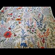"Four Barkcloth Curtain Panels 68"" by 42"""
