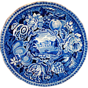 SALE R Hall's Pains Hill Surrey Historical Blue Transfer Ware Plate