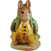 SALE Beatrix Potter Beswick England Samuel Whiskers Figurine with Gold Circle BP1a Mark
