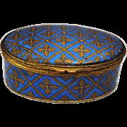Sevres Porcelain Patch Snuff or Trinket Box