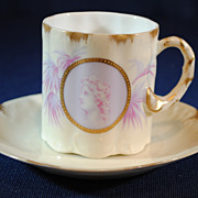 Rosenthal Greek or Roman Medallion Cameo Ware Demitasse Cup & Saucer