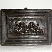 SALE Georgian Ceramic Plaque Depicting Two Cherubs in Relief