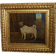 SOLD 19th Century Victorian Portrait of a Pug