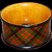 SALE Scottish Mauchlin Tartan Ware Napkin Ring, Indistinctly Named Clan