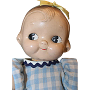 SALE Vintage,  1930's Campbell Kid Composition doll.  Unmarked. side glancing stationary eyes