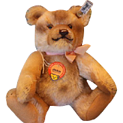 1989 Limited Edition STEIFF Jackie Bear! Tagged and button in ear! Great Condition! Mohair Bea