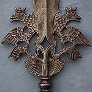 Antique 18th c Saxon Polish Swiss Guards Partisan King Augustus II Augustus III