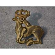 Ancient Scythians bronze fibula in the shape of a deer 6th-4th century BC