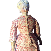 "15""Conta and Boehme Parian china in Gorgeous antique promenade dress"