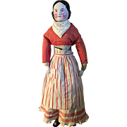 Large , early Blush Kister china , antique farmwife outfit