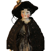 SOLD ABG china lady in antique mourning clothes
