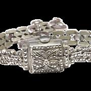 Marcasite Bucherer Covered Wrist Watch, c. 1940