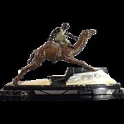Art Deco Spelter figure of Nubian Rider on Camel