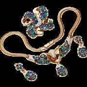 Trifari Jeweled Symphony Parure