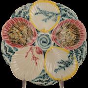 SALE Vintage Wedgwood Majolica Seaweed Oyster Plate