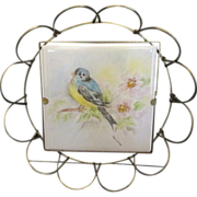 Villeroy and Boch - Mettlach Hand Painted Tile