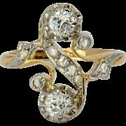 Antique Art Nouveau diamond ring