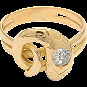 Antique Victorian diamond snake engagement ring