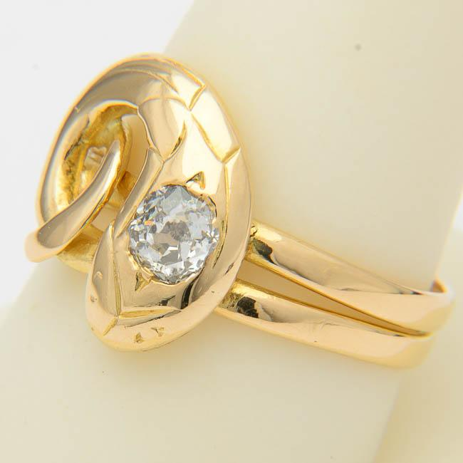 antique snake engagement ring from