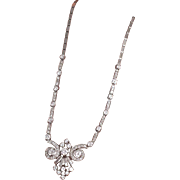 Platinum 8 carats t.w. diamonds necklace from the glorious sixties