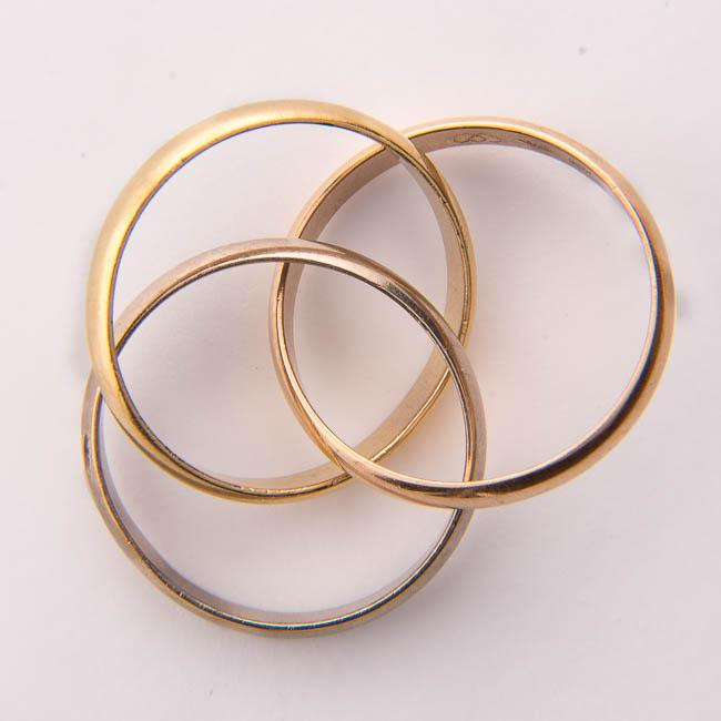 three interlocking rings