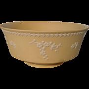 Rare Wedgwood Primrose Yellow Jasperware Console Bowl