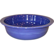 "Vintage Fiestaware 8 1/2"" Blue Nappy Vegetable Bowl"
