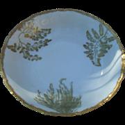 Gorgeous Gold T&V Limoges Sea Fern Serving Bowl