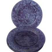 Consolidated Glass Martele Purple Amethyst Olive Plate