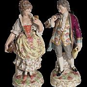 Antique French Old Paris Vincent Dubois Pair Figurines