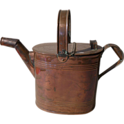 SOLD Victorian English Copper HF & Co. Watering Can