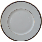 Classic Minton St James Pale Blue Ovals on Cobalt and Gold Dinner Plate