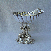 Antique A & N Westminister England Silverplated Shell Shaped Dolphin Comport