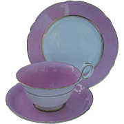 Sweet Vintage Shelley Chester Shape Pink Teacup and Saucer Plate Trio 1932