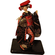 Vintage Oriental Cloth Doll in her original clothes