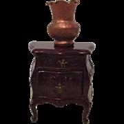 Vintage Miniature Doll House Table and Vase