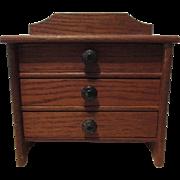 Vintage Wooden Doll Dresser